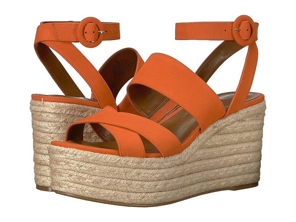 Nine West Kushala Espadrille Wedge Sandal (Orange Nubuck) Women