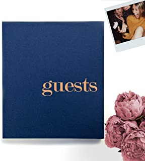 Photo Guest Book Navy Guestbook For Wedding Guest Book Polaroid Guest Book Photo Guestbook Wedding Photo Booth Props Instax Guest Book Navy Wedding Guestbook With Blank Pages. Navy & Gold Wedding (LP)