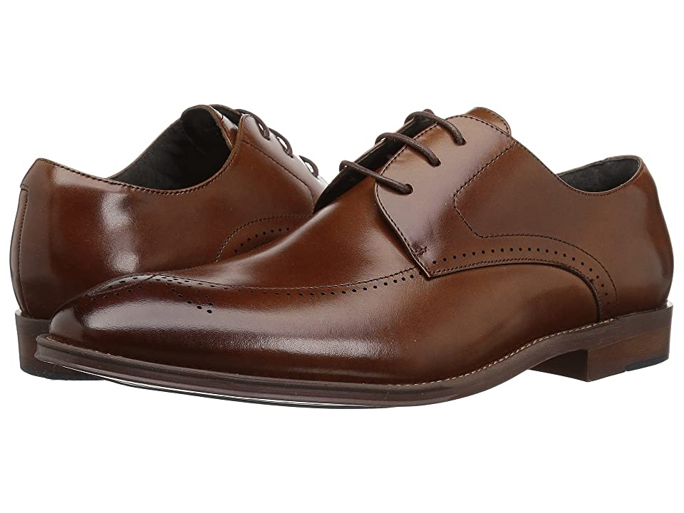 Stacy Adams Ballard Plain Toe Lace Up Oxford (Cognac) Men