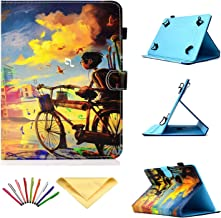 Uliking Universal Case for 7 inch Tablets, Slim PU Leather Shell Stand Shockproof Protective Cover with Pencil Card Holder for 6.8