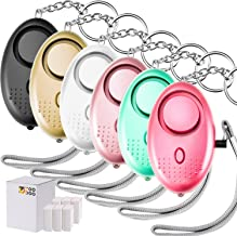 6 Pieces Personal Alarm Keychain, TOODOO 130db Safesound Safety Emergency Alarm with LED Safety and SOS Emergency Alarm Pr...