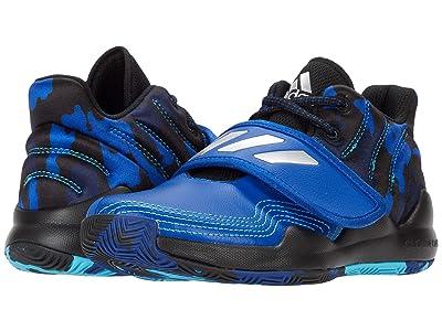 adidas Kids Deep Threat Basketball (Little Kid) (Team Royal Blue/Core Black/Collegiate Navy) Kids Shoes