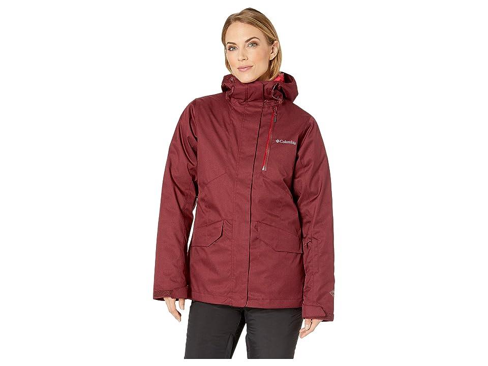 Columbia Emerald Laketm Interchange Jacket (Rich Wine Heather/Red Mercury) Women