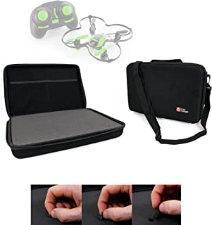 DURAGADGET Black Armoured EVA 'Shell' Storage Case with Fully-Customizable & Shock-Absorbing D.I.Y Foam Interior - Compatible with The UDI U839 Quadcopter Drone