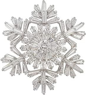 Christmas Crystal Snowflake Brooch PIN Made with Swarovski Elements (Brooch)