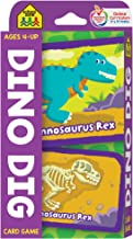 School Zone - Dino Dig Card Game - Ages 4+, Preschool to Kindergarten, Dinosaurs, Dinosaur Names, Counting, Matching, Voca...