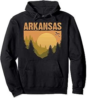 Retro Arkansas Home Graphic Icon Souvenir US State Pride Top Pullover Hoodie