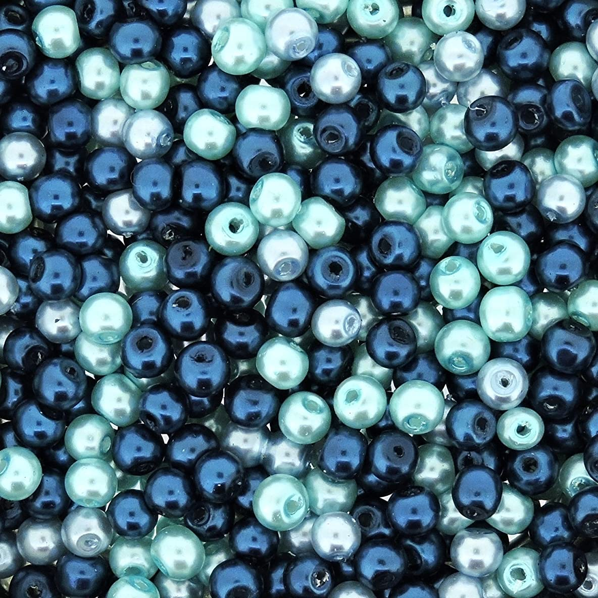 UnCommon Artistry Glass Pearls Mixes (100pcs 8mm) Caribbean Blue
