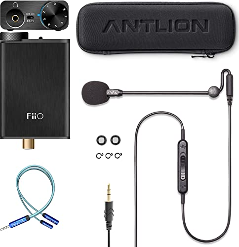 lowest Antlion Audio ModMic Uni Attachable Noise-Cancelling Microphone with Mute Switch Bundle with Fii O E10K USB DAC and Headphone Amplifier (Black), and wholesale Blucoil outlet online sale Y Splitter Cable for Audio & Mic online sale