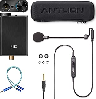 Antlion Audio ModMic Uni with Mute Switch Bundle with FiiO E10K Black USB DAC and Headphone Amplifier, and Blucoil Y Split...