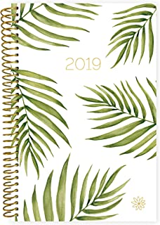 """bloom daily planners 2019 Calendar Year Day Planner - Passion/Goal Organizer - Monthly and Weekly Dated Agenda Book - (January 2019 - December 2019) - 6"""" x 8.25"""" - Palm Leaves"""