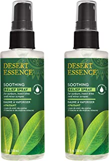 Desert Essence Tea Tree Oil Relief Spray Plant-Based with Calming Chamomile, Rosemary Oil & Balm Mint Extract - Relieves S...