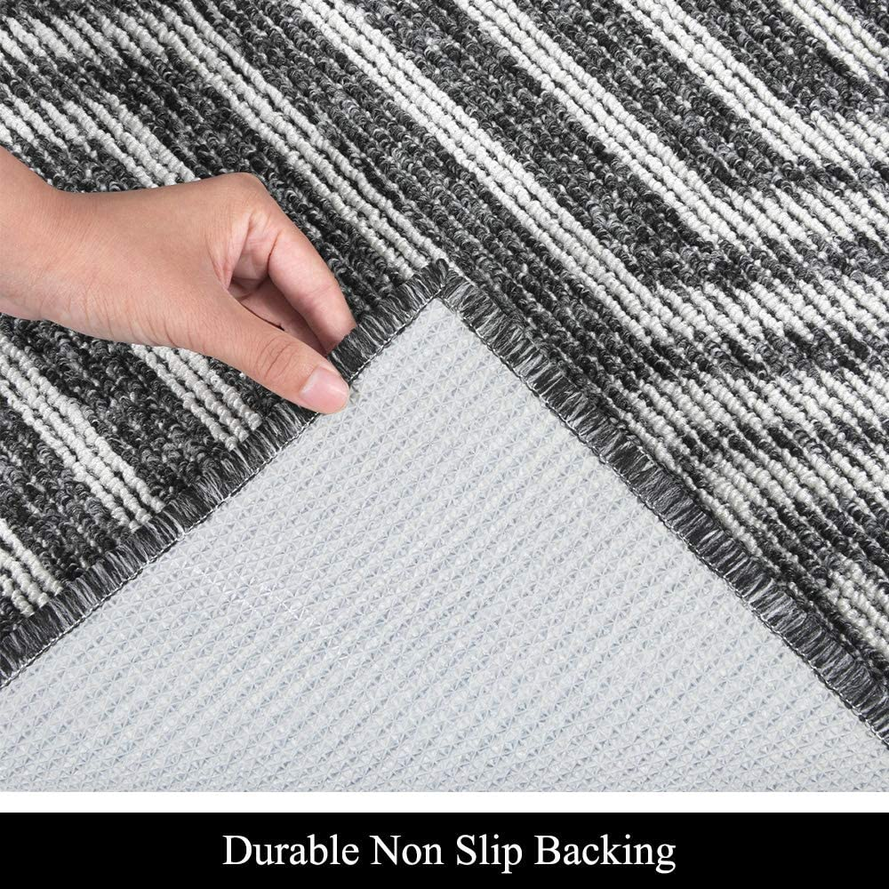 Pauwer Indoor Doormats Set of 2 Non Slip Rubber Front Back Door Mat Low Profile Entry Rugs Entrance Door Rug Shoe Mat Super Absorbent Inside Dirt Trapper Mats Machine Washable