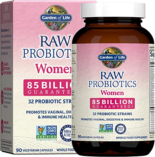 high quality Garden of Life Raw Probiotics for Women - 85 Billion CFU Probiotic for Vaginal Probiotics with Vitamins, Minerals, Enzymes online sale - 90 Capsules, Womens Probiotic Supplement for outlet sale Digestive and Immune Health online sale