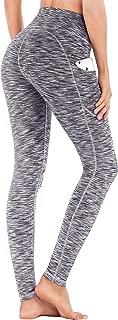 IUGA High Waist Yoga Pants with Pockets, Tummy Control,...