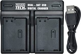 Premium Tech BP-718 / BP-727 Dual Bay USB Battery Charger for Canon Vixia R60, R62, R600, R70, R72, R700, R80, R82, R800 Camcorders