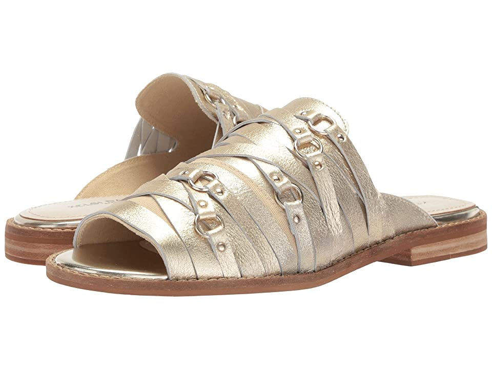 Kelsi Dagger Brooklyn Slope Flat Sandal (Platinum Metallic Leather) Women