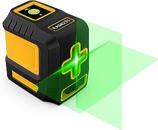 KAIWEETS レーザー墨出し器 水平器 レーザーレベル 2ライン|クロスラインレーザー グリーン|高精度|高輝度 省エネ|16時間連続使用 ミニ型|持ち運び便利 日本語取扱説明書 3年間品質保証 【法人割引あり】