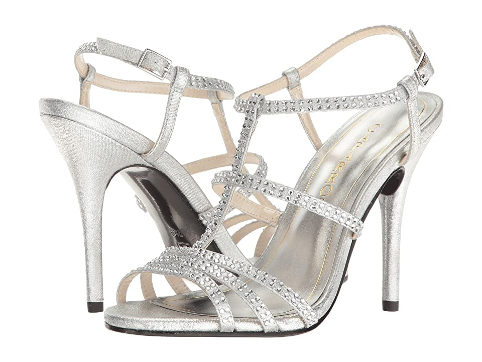Caparros Groovy (Silver Metallic Fabric) High Heels
