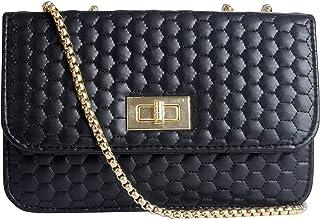 Envias Leatherette Side Sling Bags For Women's Ladies (Black_EVS-130)