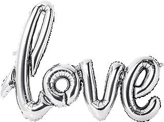 Talking Tables WHT-Ball-Love We Heart Birthdays Foil '6' Balloon, Papier, Multicolores, 0,5 x 23 x 21,2 cm