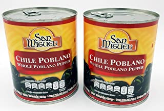 San Miguel Whole Poblano Peppers 27.5 Ounces (2 Pack)