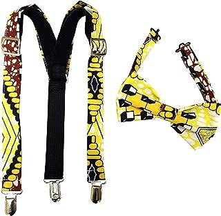 african print suspenders