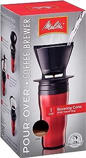 Melitta (64014) Ready Set Joe Travel Mug Coffee Maker, Red