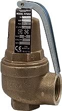 """Apollo válvula 10-600 Series bronce válvula de alivio de seguridad, ASME agua caliente, 40 psi Set de presión, 1-1/2"""" x 2"""" NPT hembra"""