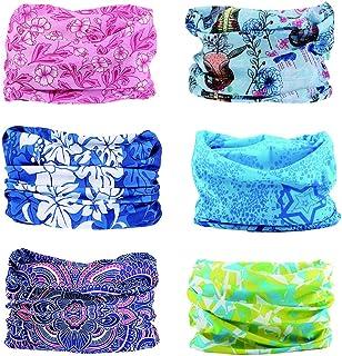Toes Home 6PCS Outdoor Magic Headband Elastic Seamless Bandana Scarf UV Resistence Sport Headwear Boho Series for Yoga Hik...