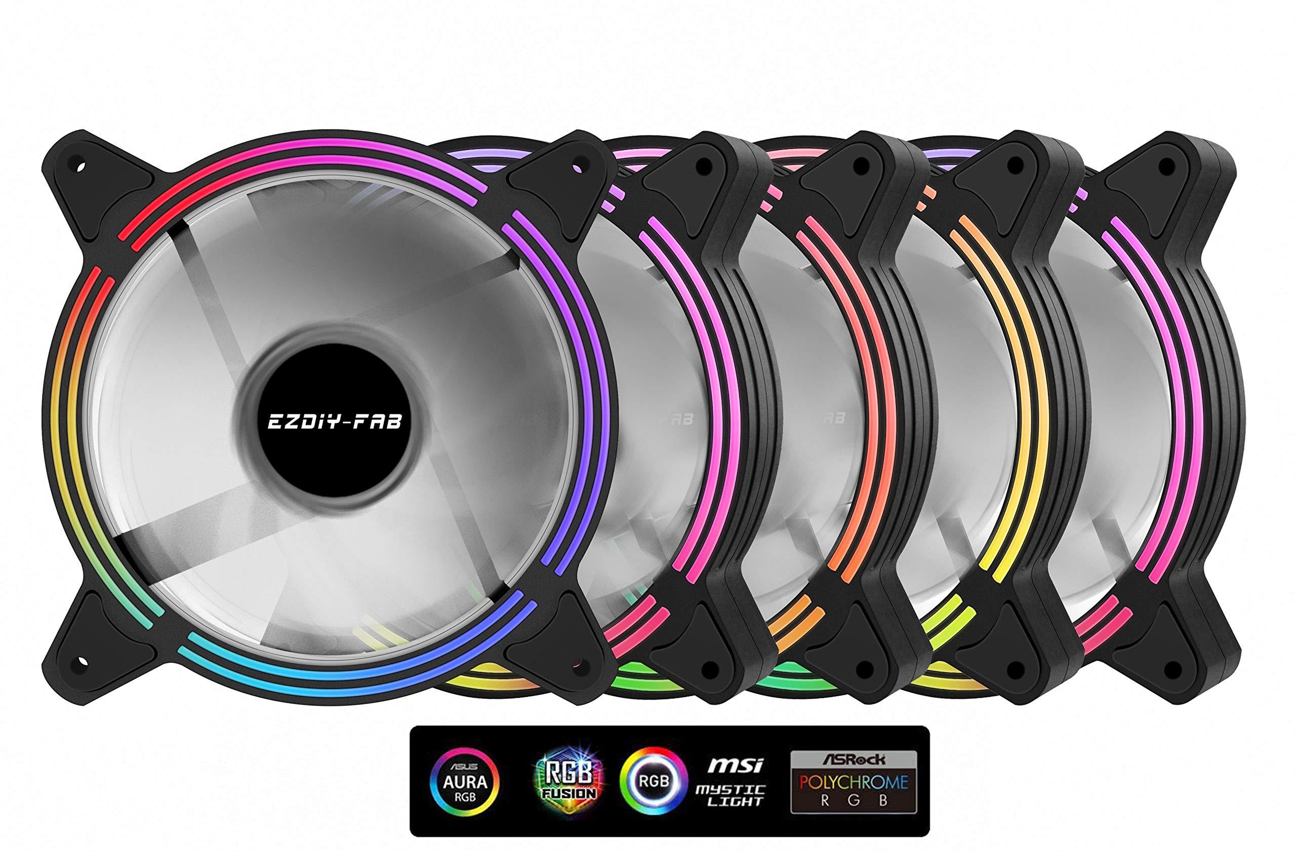 upHere 5V PWM ARGB LED 120mm Case Fan For PC Cooling super