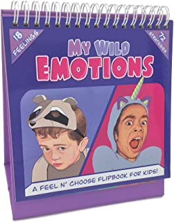 My Wild Emotions - A Feelings Flip Book for Kids; Children Identify Moods, Make Positive Choices; 18 Emotional Expressions...