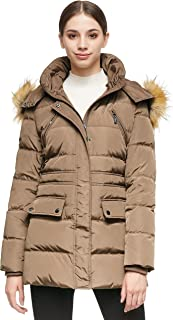 Orolay Women's Thickened Short Down Jacket Winter Coat Hooded Parka