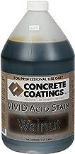 VIVID Acid Stain - 1 Gal - Walnut (Rich Black W/Brown Undertone)