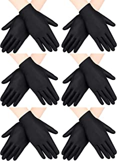 6 Pairs Child Costume Gloves Spandex Gloves Dress-up Gloves for Kids Halloween Costume Accessories