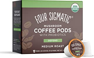 Sponsored Ad - Four Sigmatic Mushroom Coffee K-Cups with Probiotics, Organic and Fair Trade Coffee, Organic and Fair Trade...