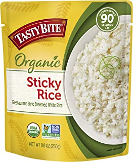 Tasty Bite Organic Sticky Rice, 8.8 Ounce (Pack of 6), White