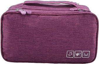 Ladieshow Draagbare Reizen Opslag Organizer Waterdichte Ondergoed BH Sokken Tas USB Case (paars)