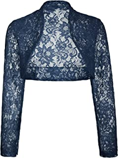 Women's Long Sleeve Floral Lace Shrug Bolero Cardigan JS49