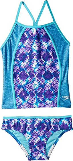 Printed Heather Tankini Two-Piece (Big Kids)