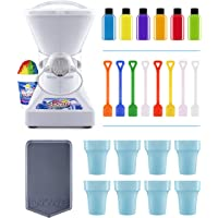 Little Snowie 2 Ice Shaver Bundle - Ice Machine and Snow Cone Machine with Snowcone Syrup Samples, Drip Pan, Souvenir Cups and Spoons