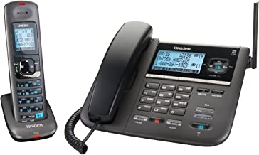 Uniden DECT4096 DECT 6.0 Two-Line Cordless Phone with Digital Answering System and Caller ID (Black)