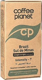 Coffee Planet Brazil Sul de Minas Compostable Coffee Capsules, 50 gm