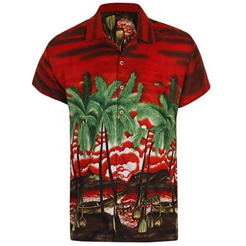671de53b91c6 Hawaiian Shirt Mens Loud Aloha Hawaii Holiday Beach Stag Palm Tree Summer  Party Caribbean Short Sleeve