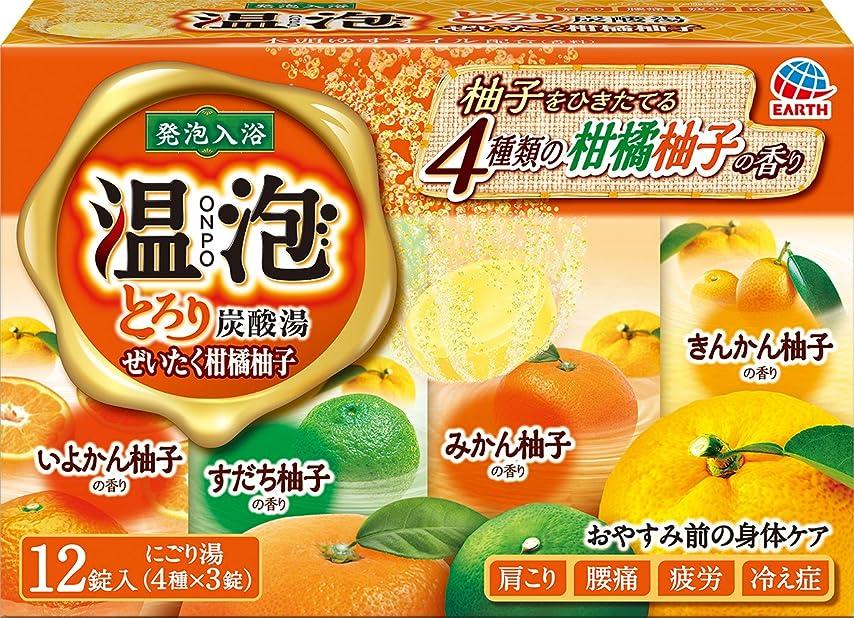 空洞バレエアース製薬 温泡 ONPO とろり炭酸湯 ぜいたく柑橘柚子 入浴剤 12錠入(3錠x4種) [医薬部外品]
