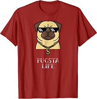 Funny Pug Gifts Cool Pugsta Life T-Shirt Birthday Kids Boys