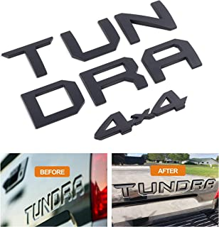 Tailgate Insert Letters + 4x4 Emblem for Toyota Tundra Trd Pro (Matte Black)