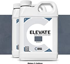 Elevate Water Based Concrete Stain, Semi-Transparent Concentrate Organic Concrete Colorant, for Concrete and Cement, Makes 2 Gallons (400 sq ft), Rainstorm (Pack of 2)