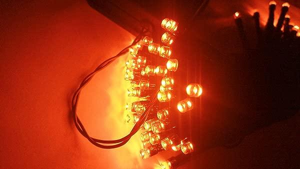 万圣节串灯 100 LED 橘子灯 8 种模式 BLINGSTAR 太阳能仙女圣诞灯派对花园庭院家居派对环境照明万圣节装饰橙色