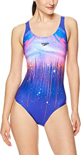 Speedo Women's Leaderback One Piece, Pwrstrik Galax